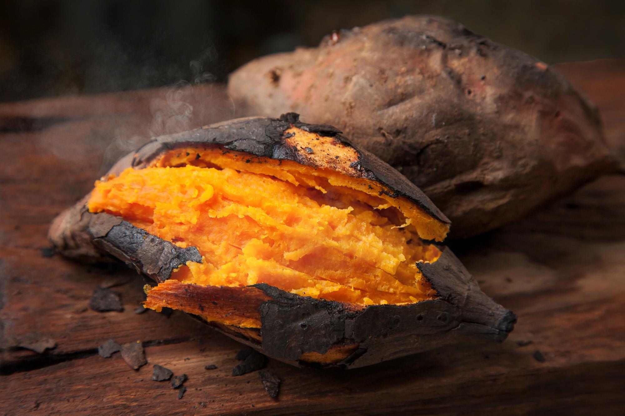 Ayurvedisches BBQ Süßkartoffeln